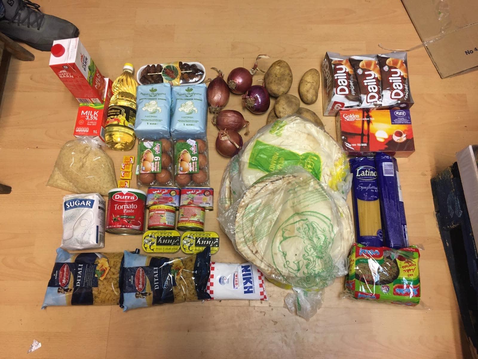 Les kits alimentaires en faveur des réfugiés.