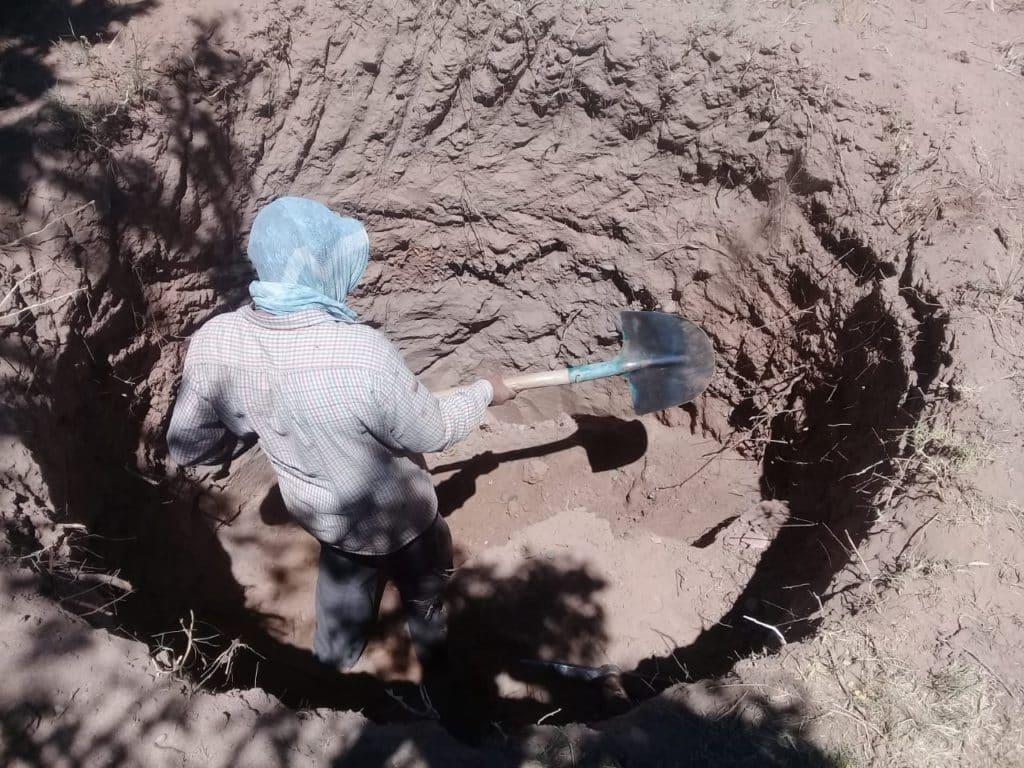 creuser un puits profond